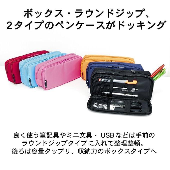 Cubic scan pen case round Zip box black 106163-15