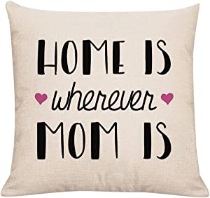 Home is Wherever MOM is Throw Pillow Cover Pillowcase Cushion Cover 18