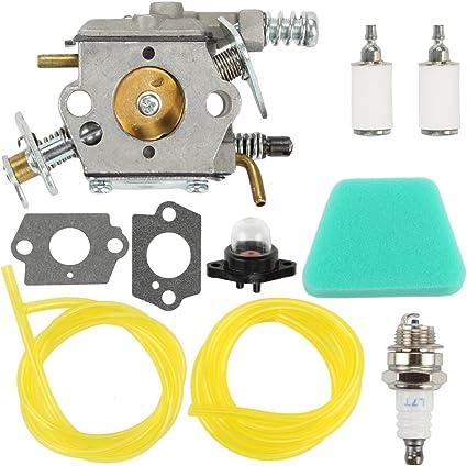 Fengyuanhong Carburateur Primaire Ampoules Air Laine Filtre Kit pour Poulan Chainsaw 1950 2050 2150 2375 Walbro WT 891 545081885