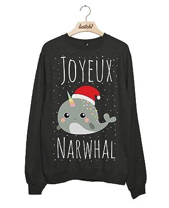 Batch1 Joyeux Noël Narwhal Novelty Christmas Fashion Womens Xmas ...