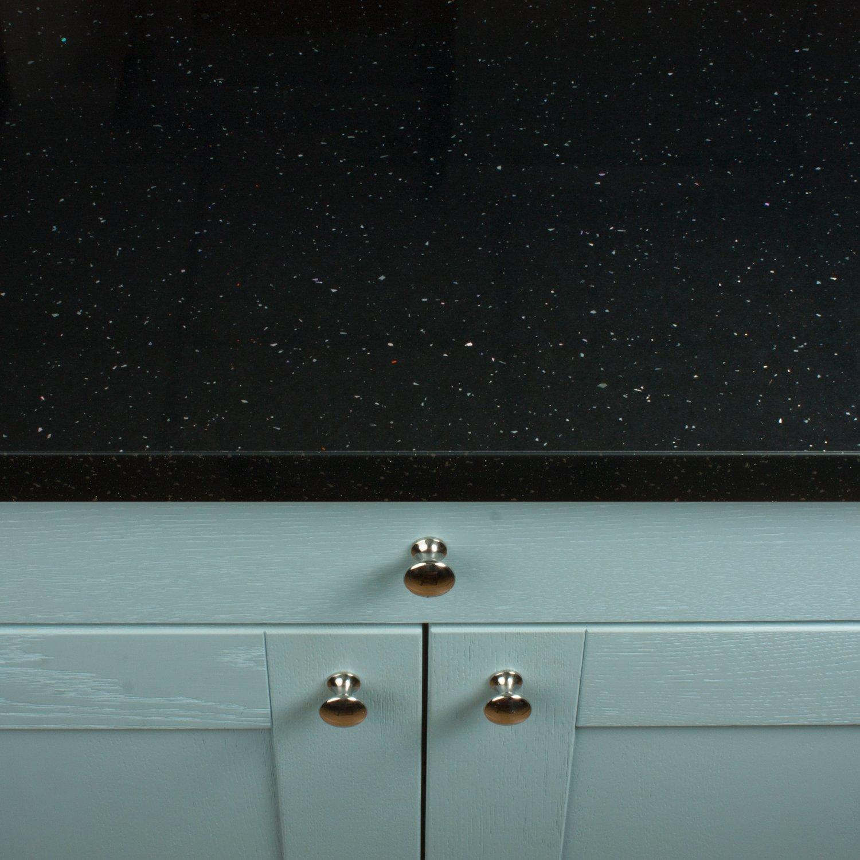 Black Sparkle Gloss Effect Laminate Kitchen Worktops - Andromeda ...