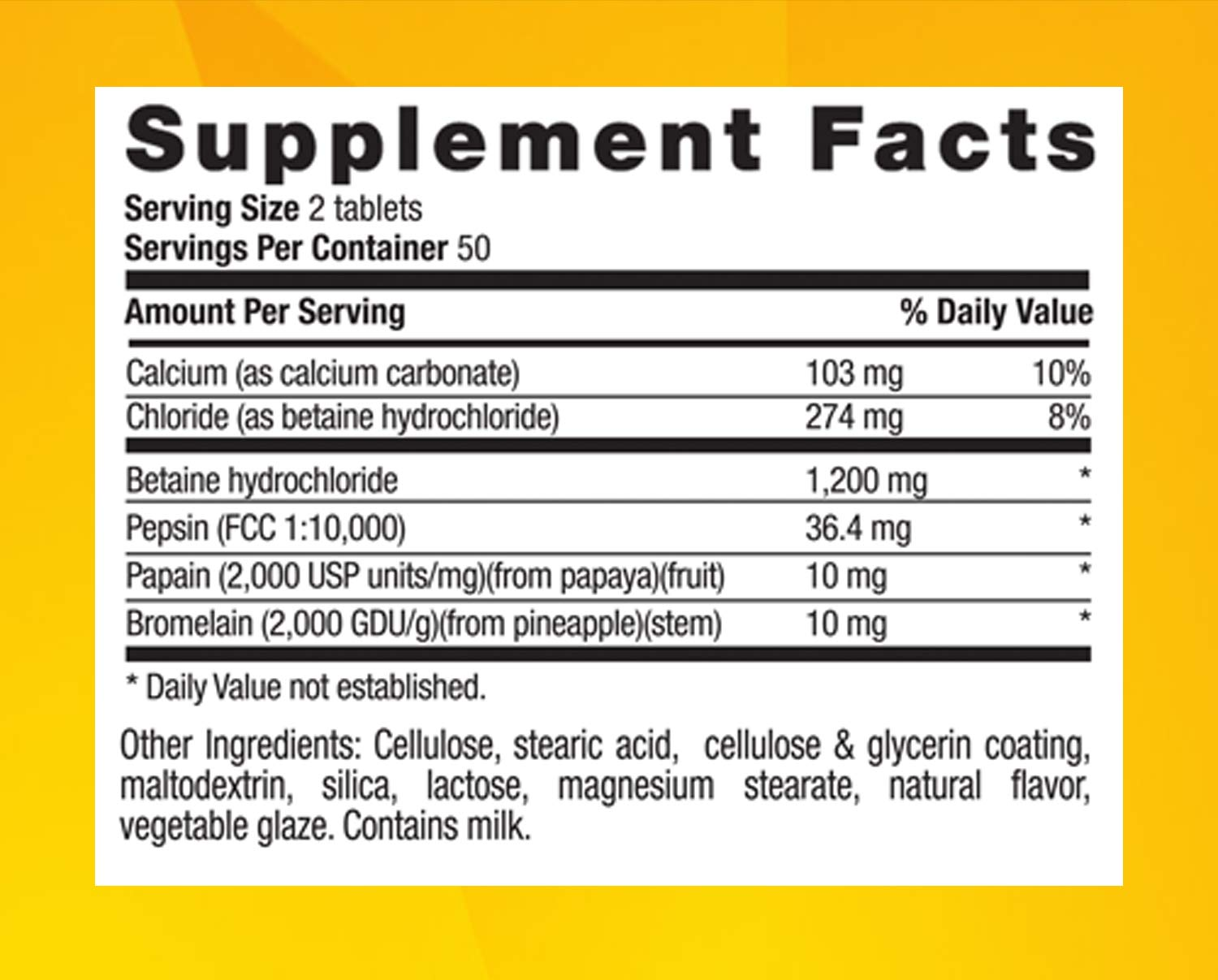 Country Life Betaine Hydrochloride 600 Mg, With Pepsin, 100-Count by Country Life: Amazon.es: Salud y cuidado personal