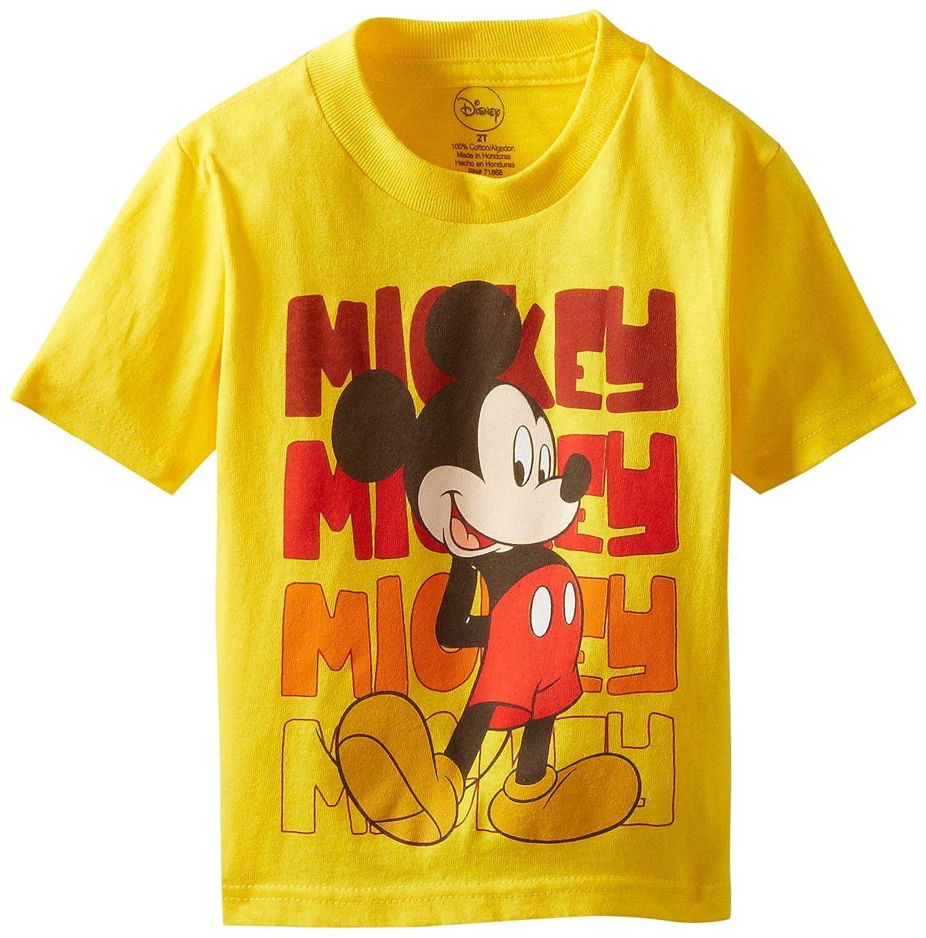 8dab9fd40b Amazon.com: Disney Mickey Mouse Boys' T-Shirt: Clothing