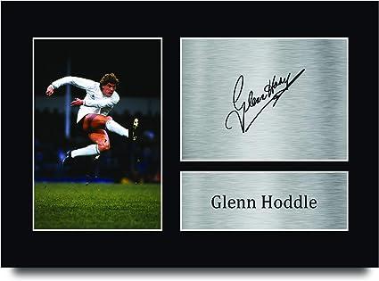 GLENN HODDLE TOTTENHAM HOTSPUR SOCCER SIGNED AUTOGRAPH PHOTO PRINT