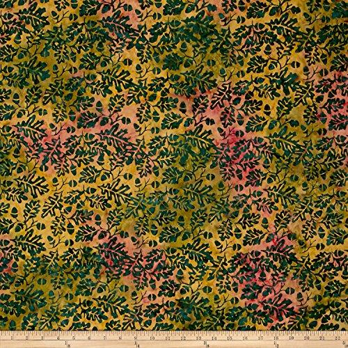 Island Batik Christmas Pumpkin Patch Acorn Medium Fabric by The - Christmas Batik