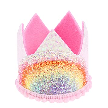 Amazon.com: TOYANDONA - Tiara de cumpleaños con corona de ...