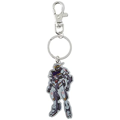 GE Animation Gundam Iron-Blooded Orphans - Gundam Barbatos Metal Keychain Cool Anime Item: Toys & Games