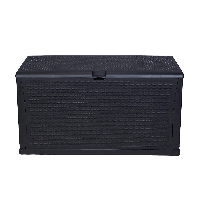 KOOLWOOM Deck Box, 105-Gallon 47.2 L x 24.01 W x 24.80 H Black
