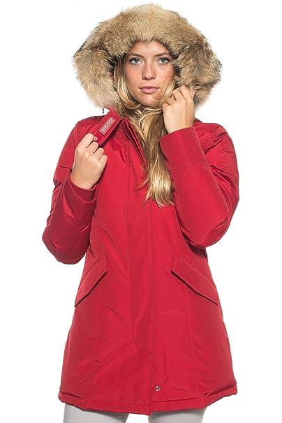 Woolrich - W S Arctic Parka da Donna - Rosso XL  Amazon.it ... 616d1d04b99