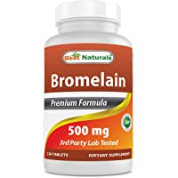 Best Naturals Bromelain Proteolytic Digestive Enzymes Supplements, 500 mg, 120 Tablets...