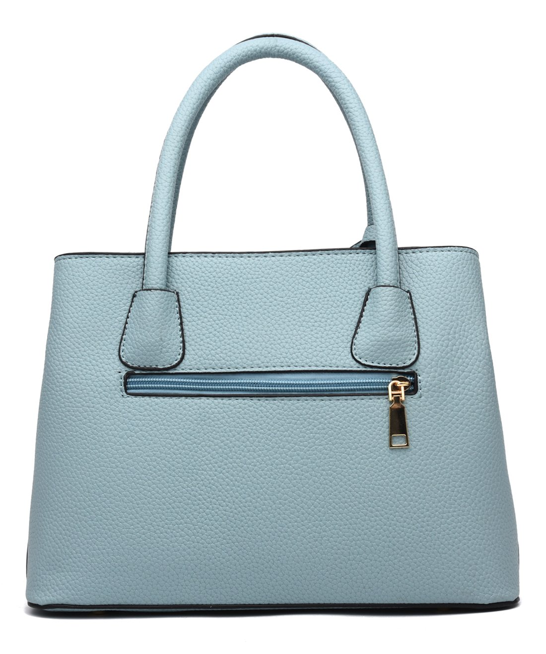 Covelin Women's Top-handle Cross Body Handbag Middle Size Purse Durable Leather Tote Bag Light Blue by Covelin (Image #2)