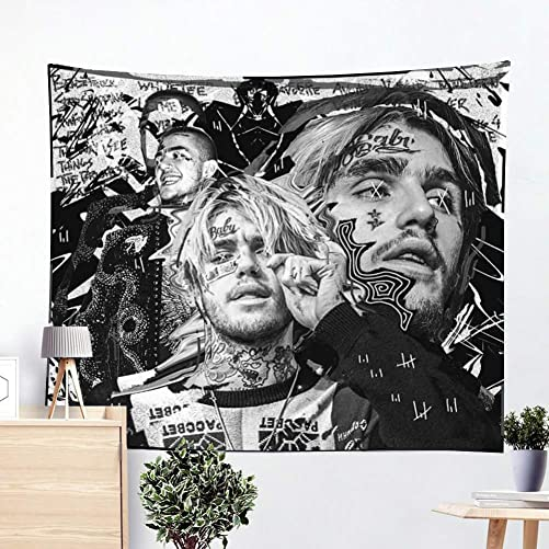 Lil Peep Tapestry, Rapper Tapestry Wall Tapestry 3D Boutique Art Tapestry Wall Hanging Pop Art Home Decorations for Living Room Bedroom Dorm Decor 59.1 x 51.2 inches