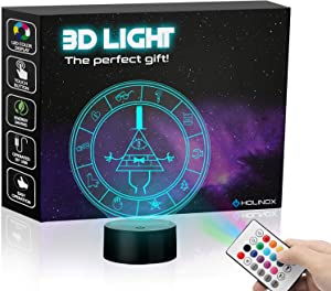 Gravity Falls Bill Cipher Wheel Lighting Decor Gadget Lamp , Awesome Gift (MT026)