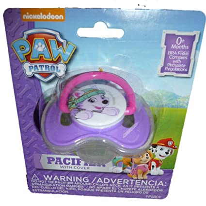 Nickelodeon Paw Patrol Pacifier niña Baby Chupete con tapa ...