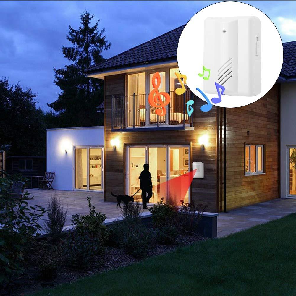 Invitado Timbre de Puerta para la casa Casa Tienda Zetiling Timbre de Puerta inal/ámbrico Alarma autom/ática Calidad ABS Timbres Sensor Sensible Fuerte Bienvenido
