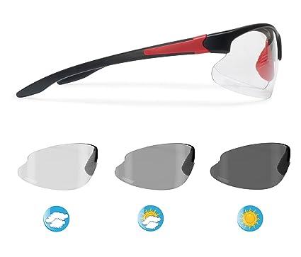 70b1d30bfe5 Bertoni Sports Photochromic Sunglasses for Cycling Running Golf Ski by Italy  - F301C Bike Wraparound Windproof