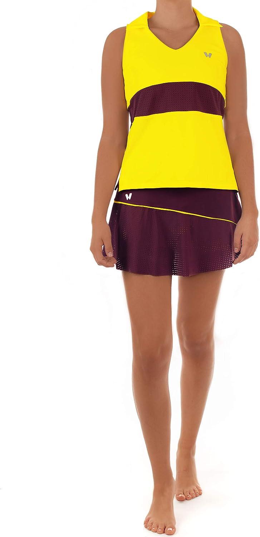 Falda de Tenis o Padel IDAWEN con Short Interior, Cintura Alta ...