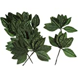 Darice 35443-54 Large Silk Rose Single Leaf, 2-1/2-Inch, Green, 144-Pack