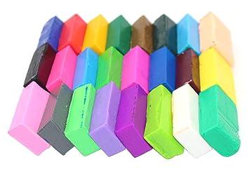24 bloques de colores de arcilla polimérica de arcilla suave para ...