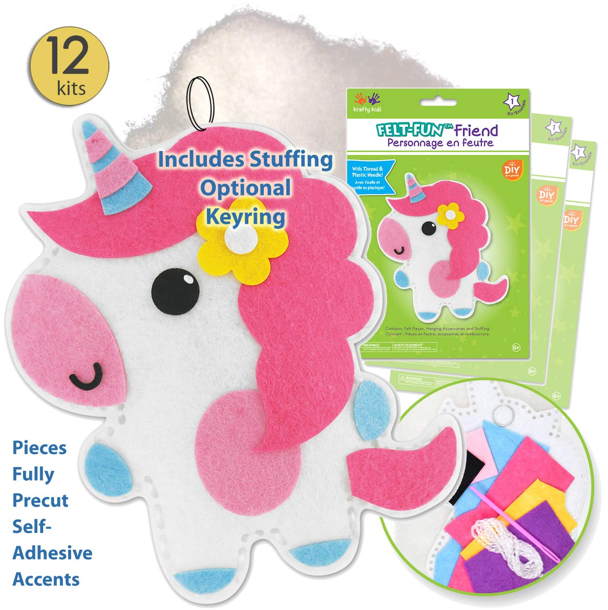 Kid Sewing Kit Unicorn Toys for Girls Unicorn Gifts for Girls Arts and Crafts Unicorn Crafts for Girls Kids Craft Kits Girls Crafts Unicorn Art Kid Crafts for Girls Craft Kits for Girls 1 Kit