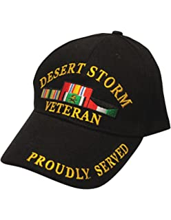 Amazon.com  Desert Storm Veteran Baseball Cap BLACK Hat U.S. Army ... c362784fc600