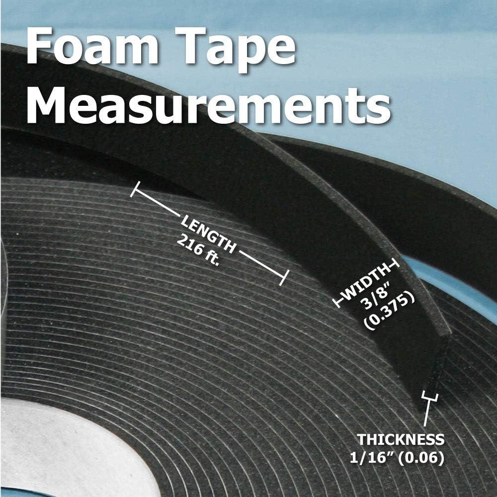 1//16 x 3//8 x 216 Glazing Tape Black 16 Rolls