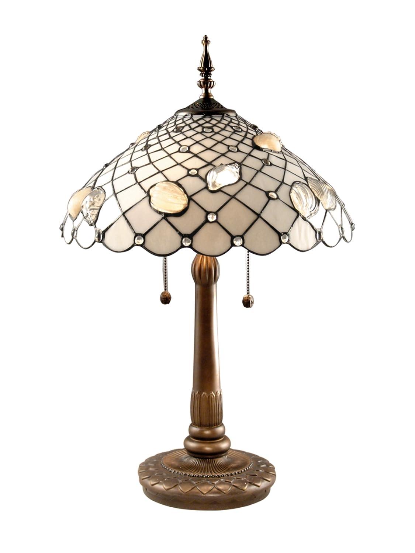 Marvelous Dale Tiffany TT60055 Tiffany Shells Table Lamp, Antique Brass And Art Glass  Shade     Amazon.com