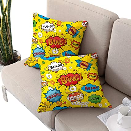 Amazon.com: Alexandear Superhero Square Pillowcase Covers ...