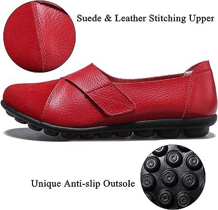 Yooeen Zapatos Mocasines Cómodos para Mujer Calzado de Trabajo Antideslizante Loafers Zapatos de Conducción