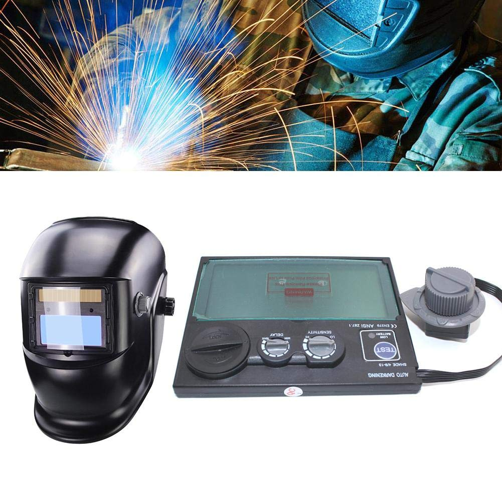 Matefield DIN9-DIN13 LCD Screen Solar Auto Darkening Welding Helmet Mask Goggles Lens
