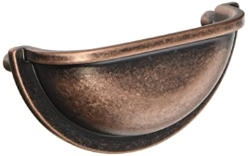 Dynasty Hardware P 2769 AC 10pk Cabinet Hardware Bin Pull, Antique Copper