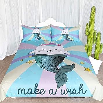 Amazon.com: Juego de cama de 3 piezas para niños y niñas ...