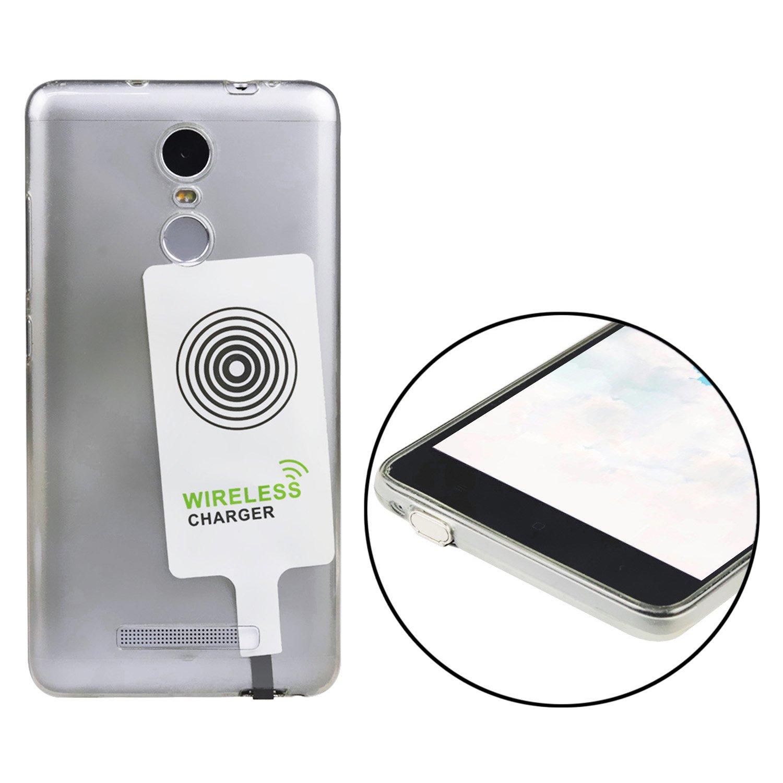 LG e altri cellulari Android nero Nero  Micro USB Receiver Ricevitore Qi universale per Samsung Galaxy S3//S4//S5 Sony per ricarica induttiva interfaccia Micro-USB Qianyou ultrasottile wireless