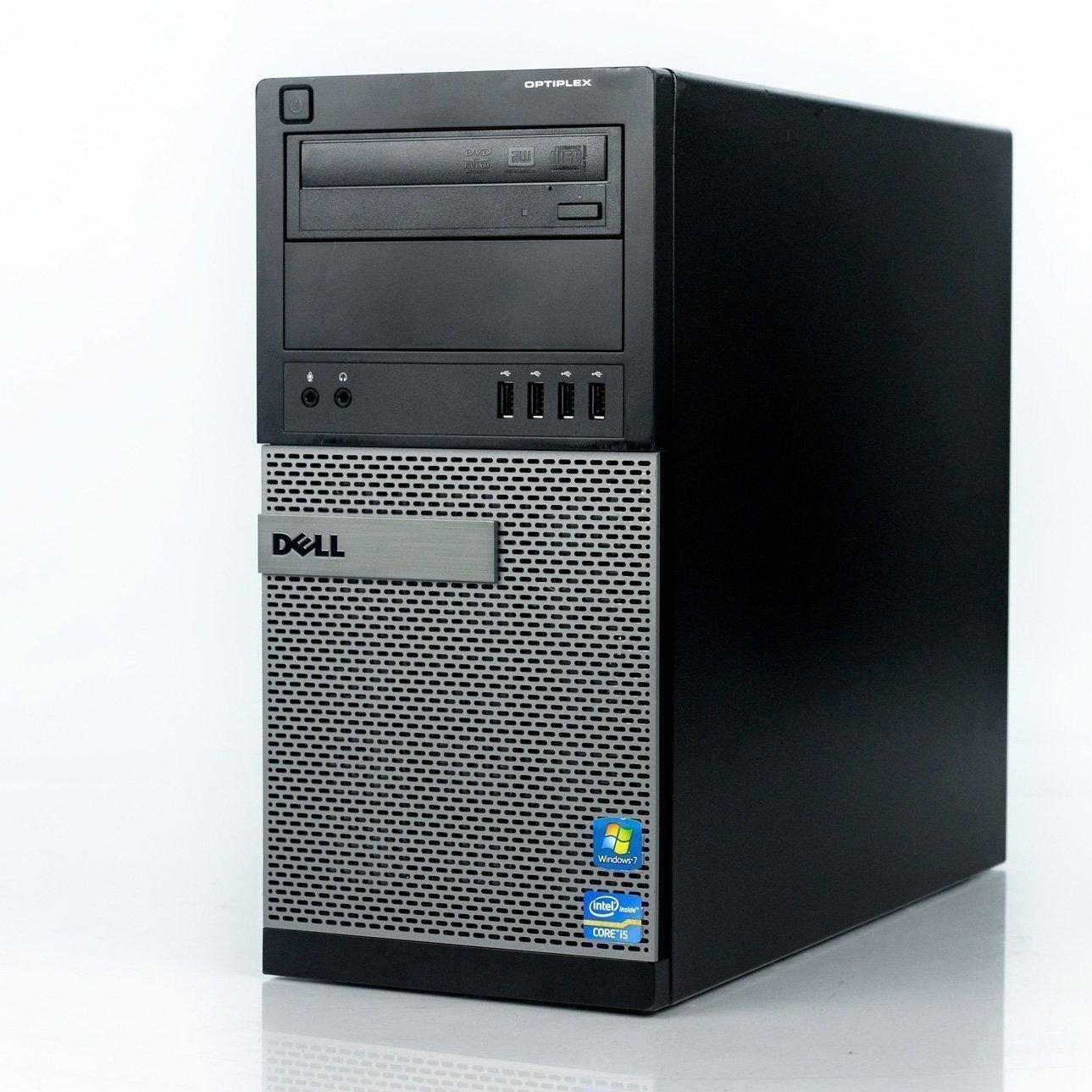 2017 Dell Optiplex 9010 Tower Premium Desktop Computer, Intel Quad-Core i5-3550 up to 3.7GHz, 8GB DDR3 Memory, 2TB HDD+120GB SSD, DVD, WiFi, Windows 10 Professional (Certified Refurbished)