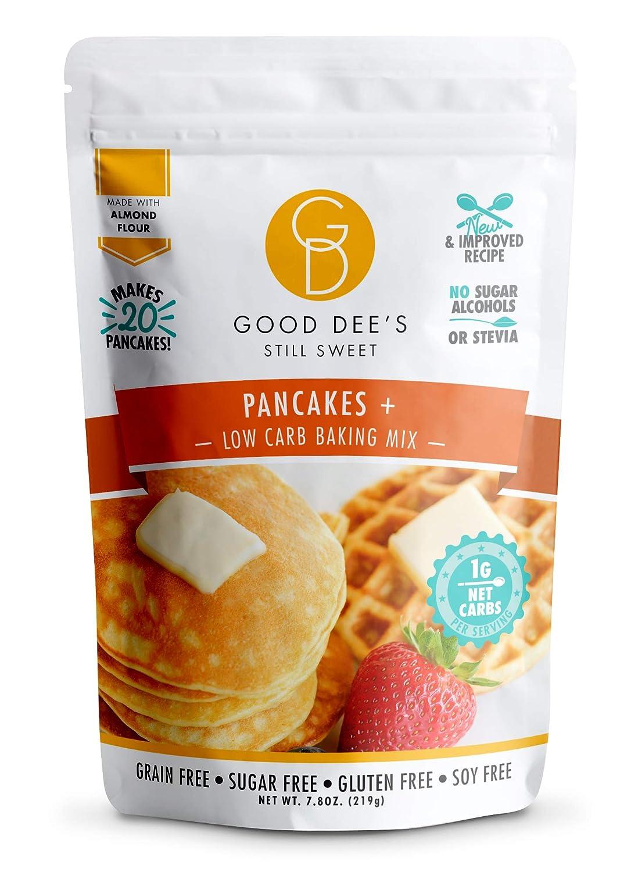 Good Dee's Pancake Mix – Allulose Sweetened, Low carb, Keto friendly, No sugar alcohols, Gluten free, Grain Free, Diabetic friendly, WW Friendly, 1g net carbs, 20 pancakes