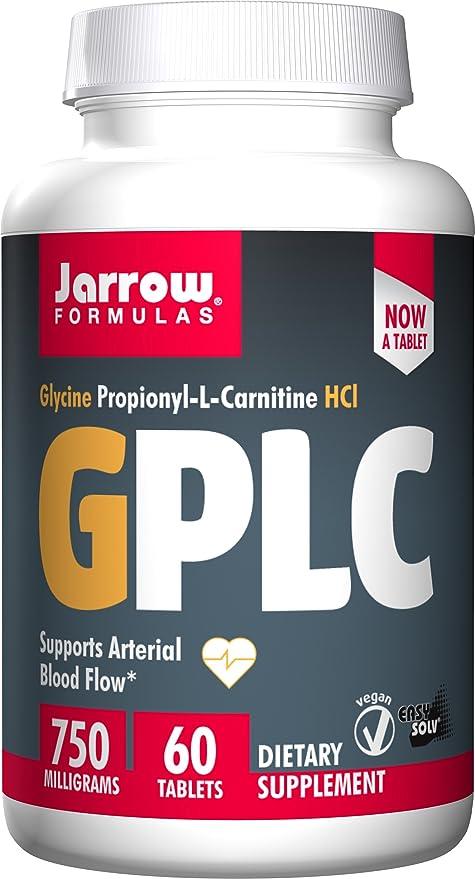 Jarrow Formulas GPLC, Supports Arterial Blood Flow, 750 mg, 60 Tabs
