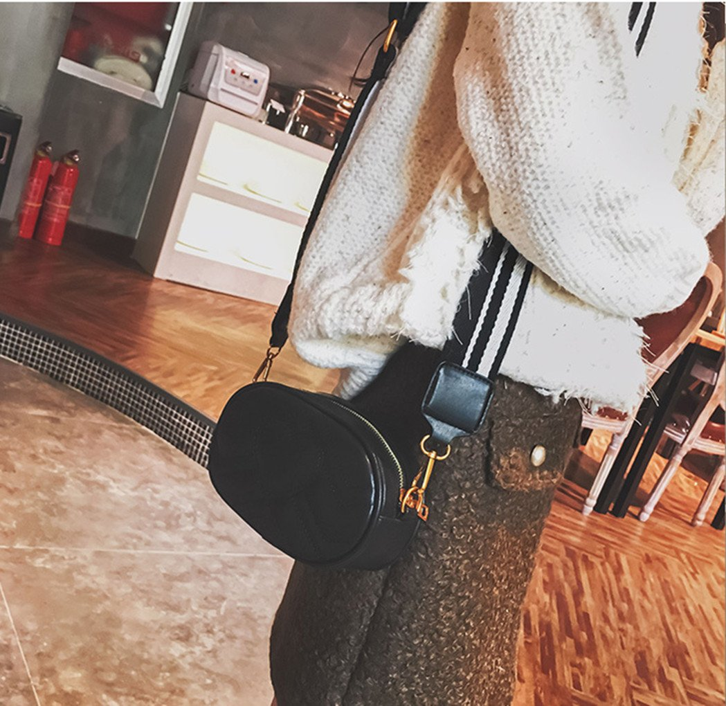 Olivia Elegant Leather Fanny Pack Embroidery Love Pattern PU Leather Waist Bag Bum Bag Travel Cell Phone Bag Pouch(Heart Black) by Olivia (Image #4)