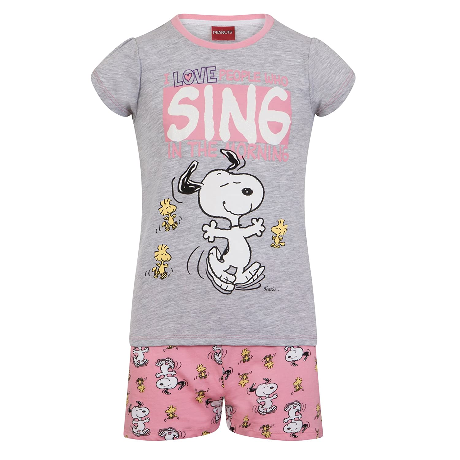 Peanuts Snoopy Official Gift Baby Toddler Girls Short Pajamas