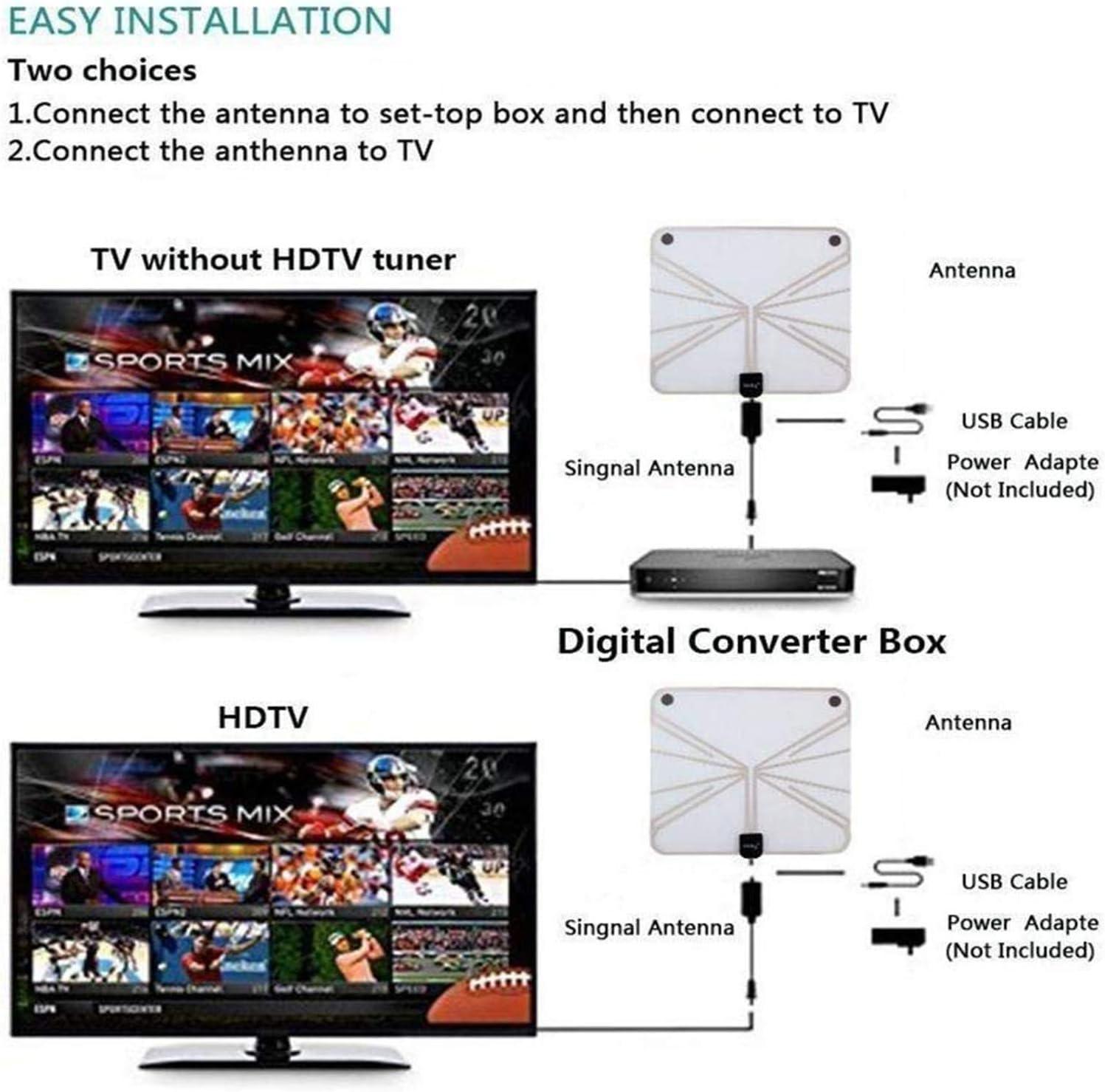 EEEKit Amplificador de Antena HDTV, Amplificador de señal Digital de bajo Ruido satelital con Luces para TV Antena HDTV con Fuente de alimentación USB: Amazon.es: Electrónica