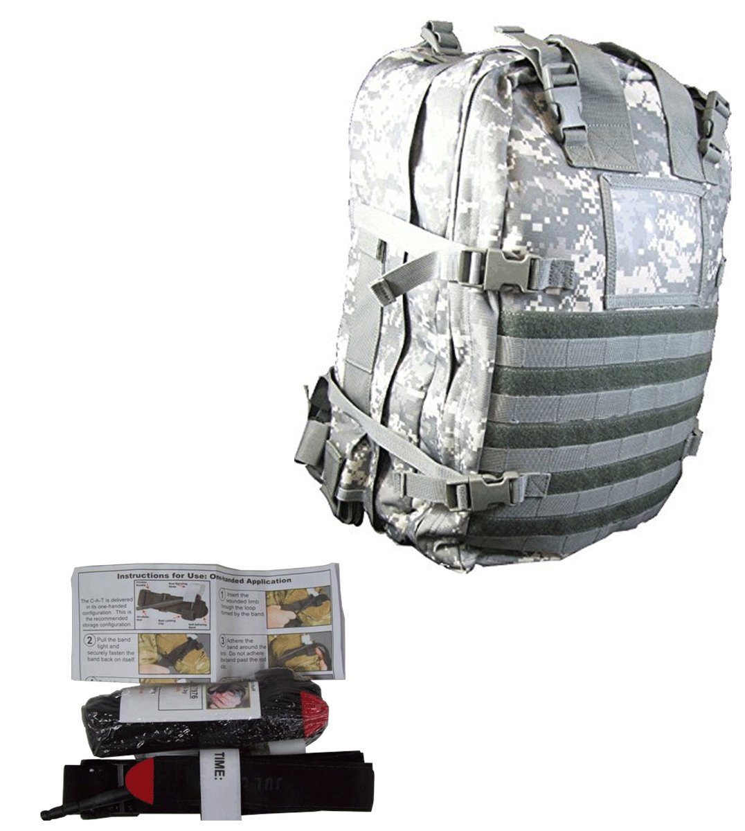 Medical Bags Fully Stocked - Stomp Medical Kit Bag With CAT Tourniquet Bundle (ACU)