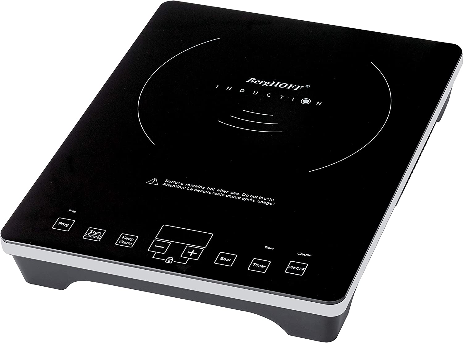 BergHOFF New Model 1800 Watt Portable Touch Screen Induction Cooktop Stove, Single Countertop Burner