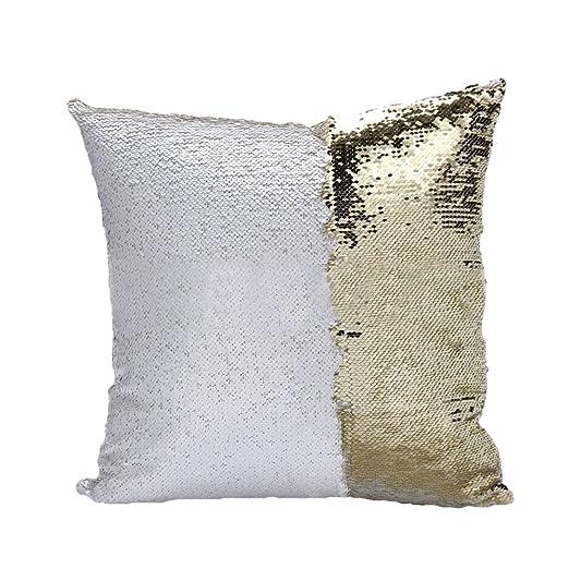 tita-dong Reversible lentejuelas funda de almohada con ...