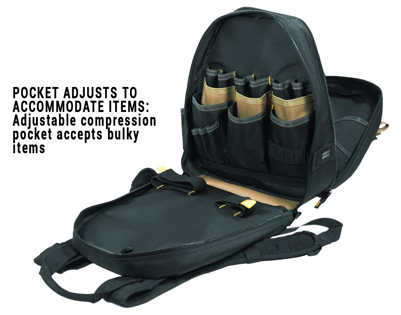 CLC 1134 Carpenter's Tool Backpack with 44 Pockets and Padded Back Support by Custom Leathercraft (Image #3)