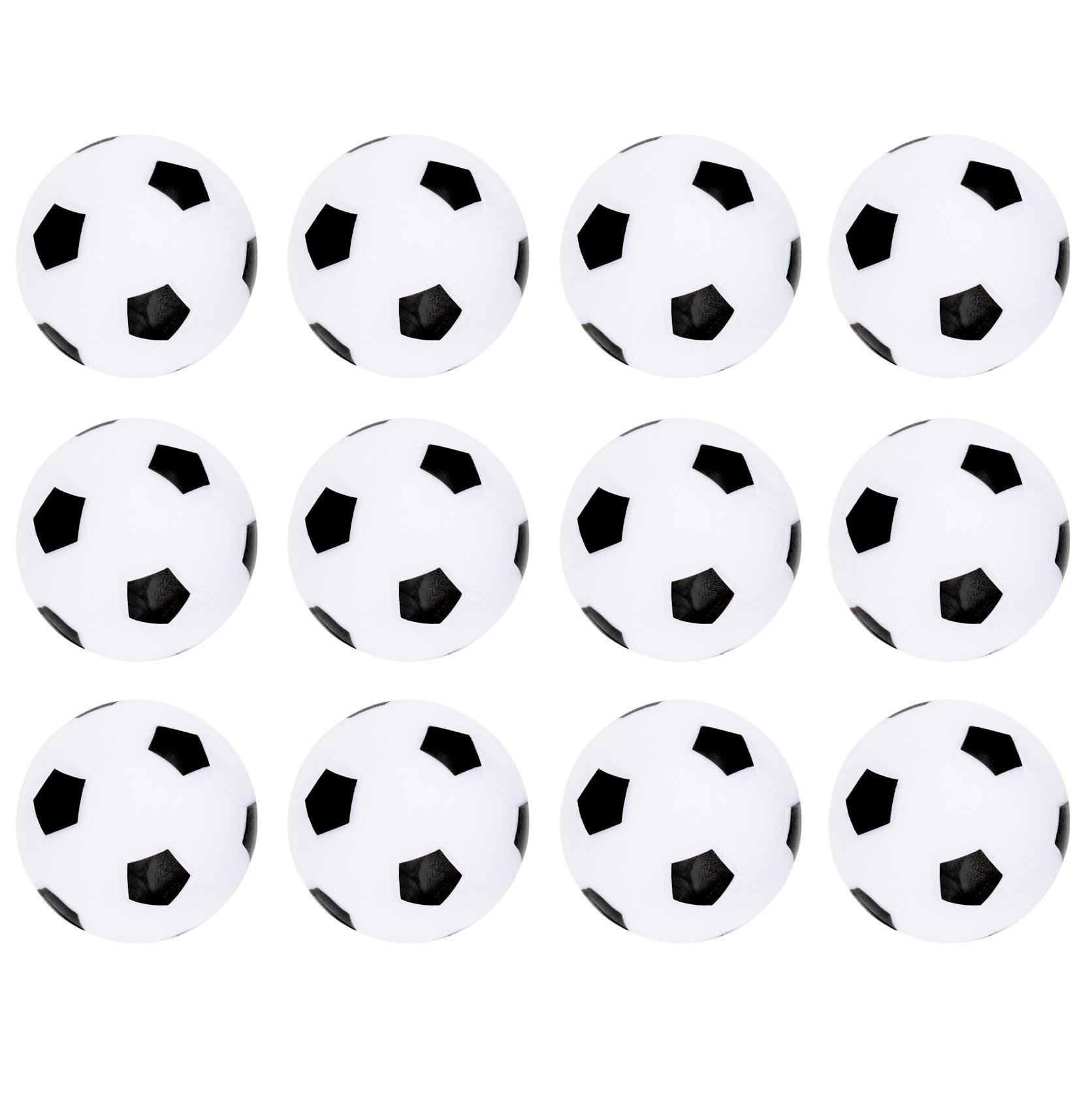 Truscope Sports Foosball Table Soccer Replacement Balls - 36mm - (12 Pack, Black-White)