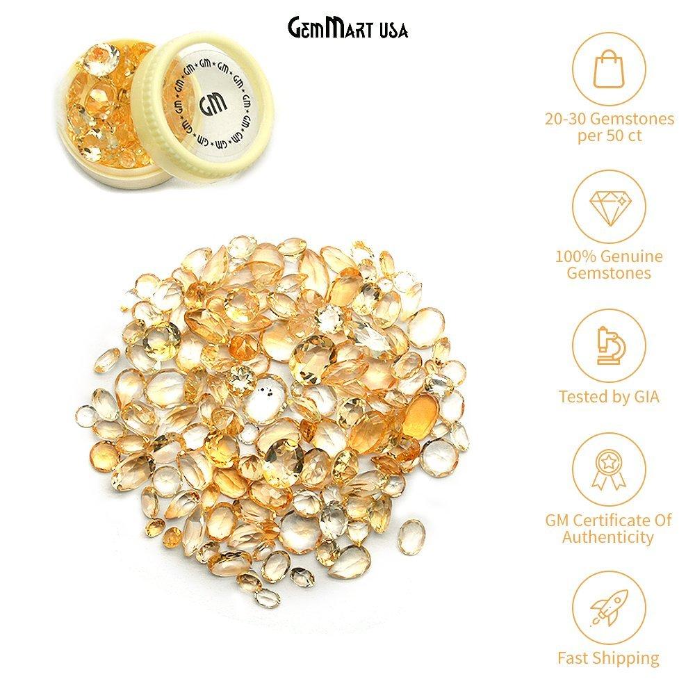 Select Your Stone 50 Carat Mix Gemstone Lot Gemmartusa loose Gemstone (CITRINE) CI-60001