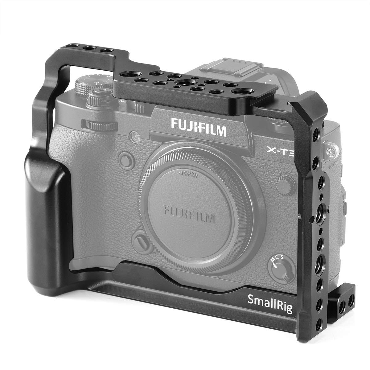 SMALLRIG Camera Cage for Fujifilm X-T3, Aluminum Alloy Cage with Cold Shoe, NATO Rail, Threaded Holes for Arri 3/8',1/4'-20,3/8'-16 (2228) Threaded Holes for Arri 3/8 1/4-20 3/8-16 (2228)