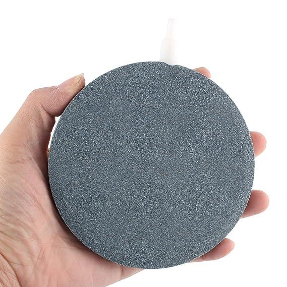 Amazon.com : eDealMax Mineral acuario pecera Redonda Difusor de oxígeno de la burbuja de aire de 120 mm Diámetro de Piedra : Pet Supplies