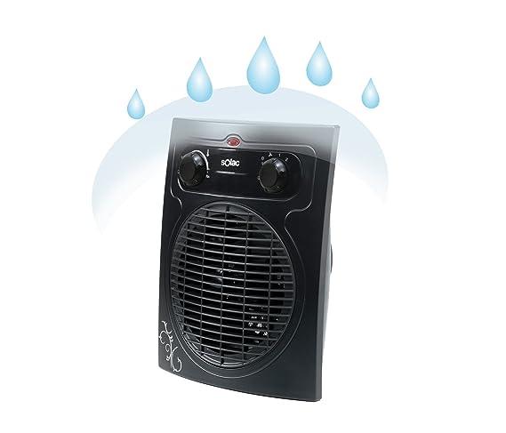 Solac TV8425 Vulcano Black - Calefactor/Ventilador (2000 W): Amazon.es: Hogar