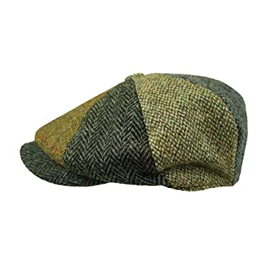 ef88236ee5f Failsworth Hats Harris Tweed Lewis Newsboy Cap - Multi-Coloured (58cm)