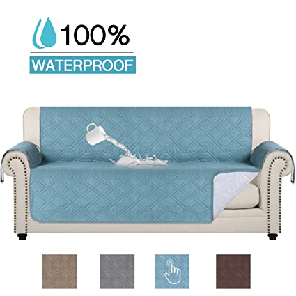 Amazing 100 Waterproof Original Reversible Slipcover For Pets Stain Resistant Luxury Furniture Protector Slipcover With Anti Slip Backing Sofa Stone Blue Gamerscity Chair Design For Home Gamerscityorg